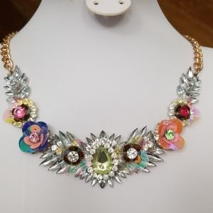 💥BRIGHT  RHINESTONE Party STATEMENT necklace